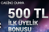 Casino Dünya bonus kodu 2020